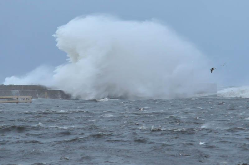 Orkan Ksawery w Ustce fot. H. Bierndgarski