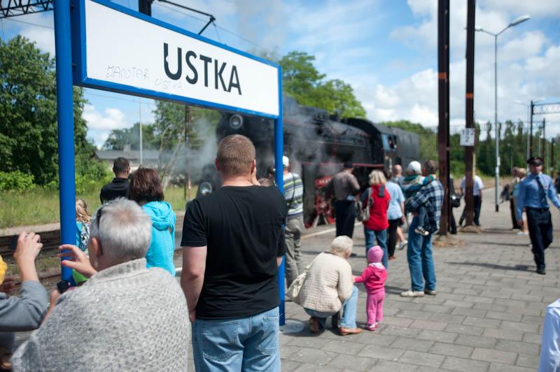 Zabytkowa lokomotywa w Ustce - ustka24.info