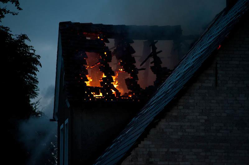 Pożar domu w Przewłoce -ustka24.info