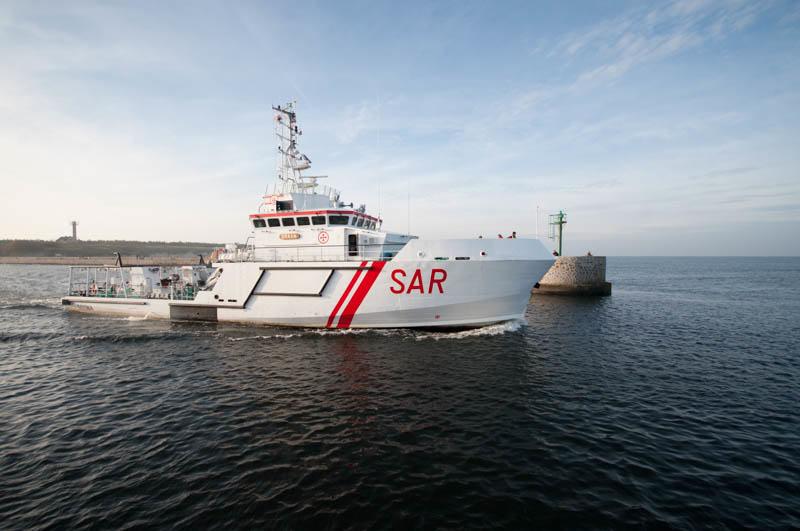 Akcja ratownicza na Bałtyku, w okolicach Ustki