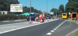 Na ulicy Słupskiej pojawiła się wysepka dla pieszych