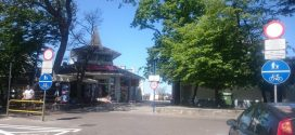 Ścieżka rowerowa na ulicy Limanowskiego w Ustce