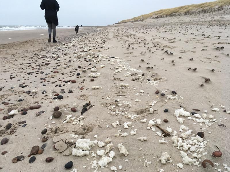 Grudki parafiny nadal zalegają na usteckiej plaży - ustka24.info