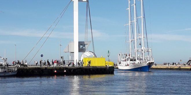 Żaglowiec Oceania pownownie zawitał do usteckiego portu morskiego - ustka24.info