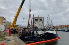 W usteckim porcie morskim tonął kuter rybacki - ustka24.info